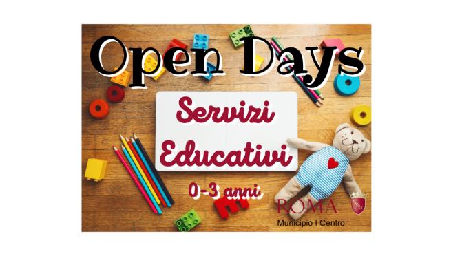 Open Days Servizi Educativi Capitolini da 0 a 3 anni del municipio roma I